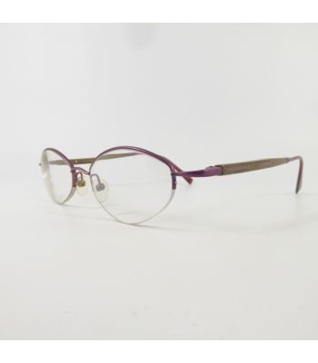 Gold and Wood 1724 Semi-Rimless V3150